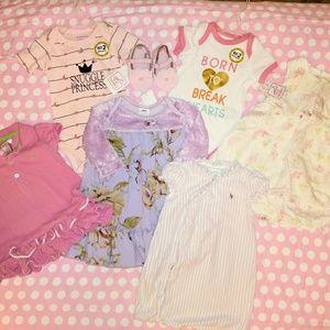 BNWT & EUC BABY GIRLS 6-9 MOS LOT X 7 ITEMS